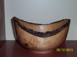 "Black Cherry Live Edge 6"" wide & 4"" tall"