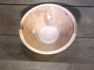 Curly Red Maple Bowl