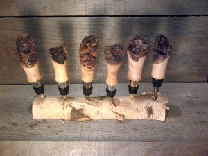 Red Maple Burl Bottle Stoppers 8/13