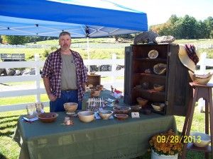 Ed at Remick Farm Booth